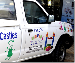 Car branding and car magnets printing is also a handy service Janelco offers in the Lowveld area