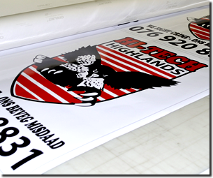 Janelco also prints high quality material sticker printing for outdoor usage aswell as indoor usage