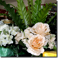 Flower arrangements for decorations at funcrions or weddings sold at Janelco in White River