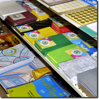 Janelco has a wide variety of everyday usage of stationery, pens, papers, pencils, glue calculaters, rulers notebooks, stickers, paint, glitters, erasers and much more